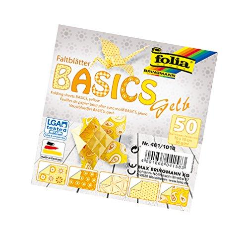 Folia Hojas Plegables Basics, 80g/m², Surtido de 50 Hojas en 5 Motivos