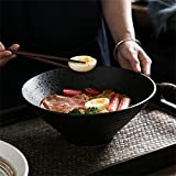 YINUO Große Suppe Ramen Noodle Bowl Retro Obstsalat Gemüse Schüssel servieren Rührschüssel Kreative Persönlichkeit Keramik Geschirr 9 Zoll