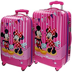 Disney Mickey & Minnie Party Equipaje Infantil, 86 Litros, Color Rosa