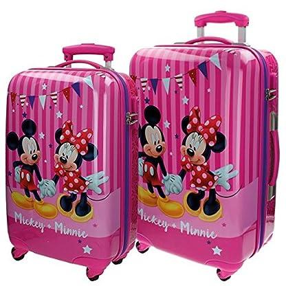 Disney Mickey & Minnie Party Equipaje Infantil, 86 Litros, Color Rosa