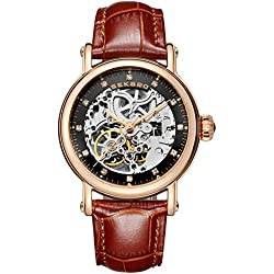 Automatic mechanical watches/ strap waterproof watch/Fashion cut watch-H