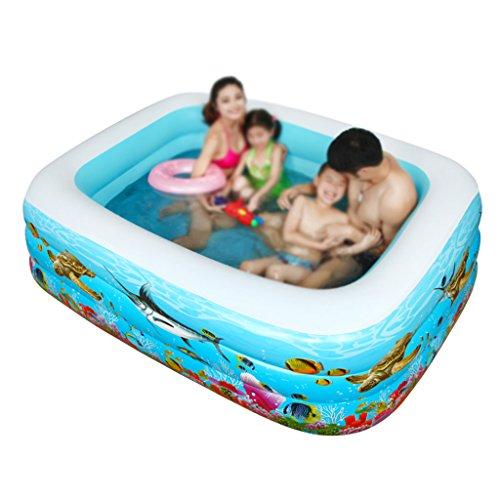 Kind erwachsene aufblasbare Ba Schwimmbecken Inflated Thicker Family Pool Kinder Schwimmbad Ocean Ball Pool Erwachsene QLM-Inflatable Bathtub and Inflatable plunge bath ( Farbe : 180*130*60cm ) ()