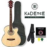 Kadence Frontier Series,KAD-FNTR-NAT-C,Natural Acoustic Guitar Combo(Bag,strap,strings and 3 picks)