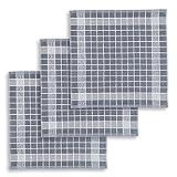 KRACHT, 3er-Set Geschirrtuch Frottier Baumwolle vollbunt grau, Edition...