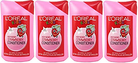 4x L'Oreal Paris Kids Very Berry Strawberry Conditioner