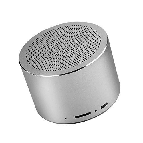 Fosa Bluetooth Kabelloser Lautsprecher,Tragbarer Mini Outdoor Stereo Musik-Player mit LED, Bluetooth 4.2, perfekt für Party, Camping, Reisen,Gold,Rosegold,Silber,Grau(Wählen)(grau) 04 Auto-stereo-subwoofer