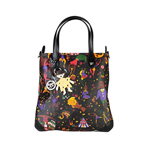 Borsa Shopper Media PIERO GUIDI MAGIC CIRCUS MARA Nera Nuova Collezione art.213C8