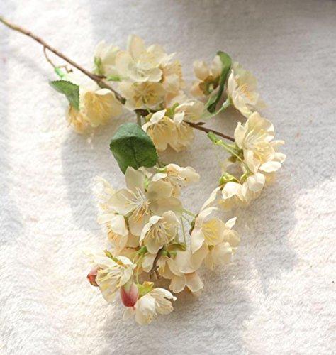 ZEZKT-Home Sakura Deko Künstliche Blumen Kunstpflanze Künstliche Blatt Blumen Hochzeit Bouquet Party Dekoration Kunstblumen Künstliche Seide gefälschte Blumen Baby Atem Blumen Hochzeit (beige)