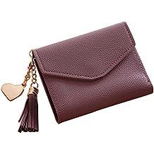 d4f495fdfe0c AchidistviQ Mini Sac à Main Mode Femme Simple Portefeuille Court Tassel  Porte-Monnaie pour Carte