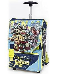 Giochi Preziosi - Mochila ampliable de las Tortugas Ninja  con Trolley, incluye daga de Rafael