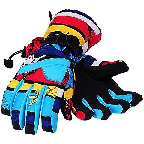 TT&FF de las mujeres y los hombres de guantes de algodón guantes de esquí térmica de la motocicleta que monta los guantes impermeables , 1# , m