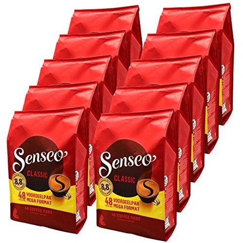 Senseo Kaffeepads Classic / Klassisch, 10er Pack, Intensiver und Vollmundiger Geschmack, Kaffee, 480 Pads
