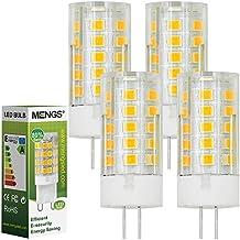 MENGS® Pack de 4 Bombilla lámpara LED 4 Watt G4, 33x 2835 SMD, Blanco Cálido 3000K, AC/DC 12V