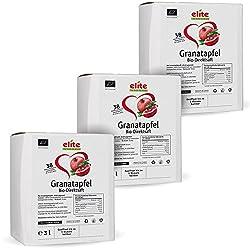 3 x 3 Liter Bio Granatapfel Direktsaft (Muttersaft), Bio Granatapfelsaft in der Box