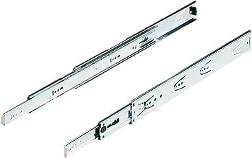 Hettich KA5632 550 mm Stainless Steel Drawer Runner (Silver)