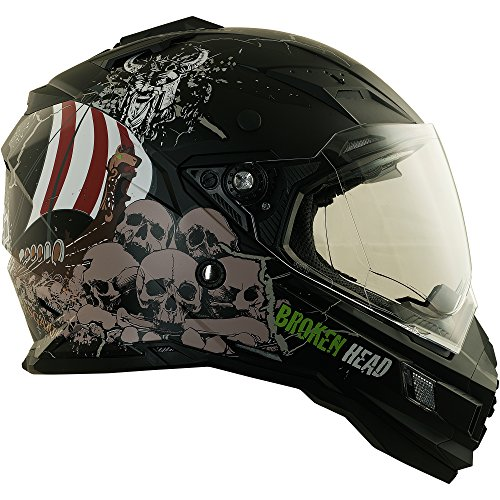 Enduro Helm mit Sonnenblende Broken Head Fullgas Viking matt schwarz - Cross Helm - MX Helm - Quad Helm (XL 61-62 cm) - 7