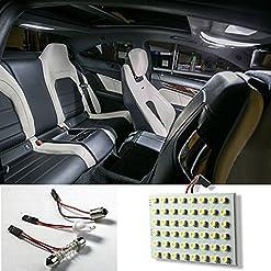 Gemini_Mall®, illuminazione interna per auto, struscia di luci con 48LED 12V per interni di auto, caravan, camper, colore: bianco acceso