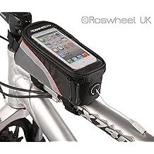 Netspower Roswheel Frame para bicicleta Ciclismo Pannier Bolsa Bolsa Frente Holder Celular Tubo con clara pantalla de PVC para Samsung Galaxy Note S3 / S4 / S5 iphone4 4S iphone 5 / 5s / 5c HTC LG Lumia | | 4.2 pulgadas y Rojo
