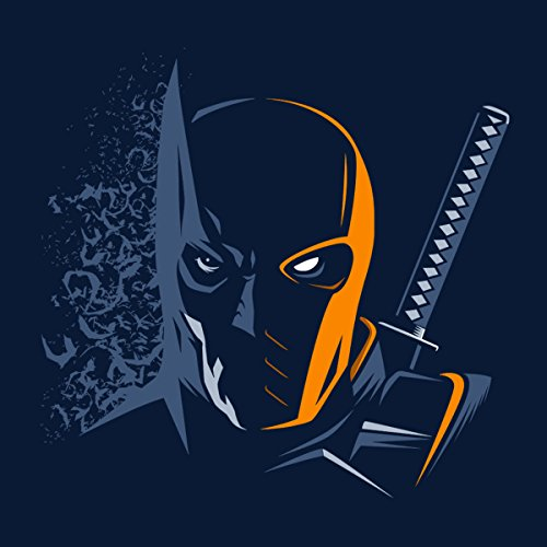 Dark Knight Batman Versus Deathstroke Men's Vest Navy Blue