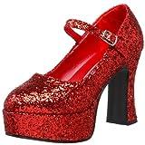 Pleaser  Mar50g/r, Damen Mary Jane Halbschuhe, Rot (red), 38 EU ( 5 UK )