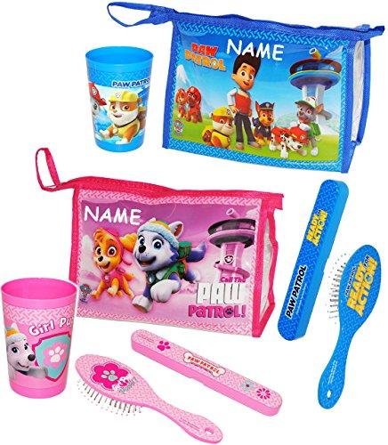 4-tlg-reiseset-kosmetiktasche-paw-patrol-hunde-rosa-pink-incl-name-zahnburstendose-haarburste-zahnpu
