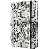 Sigel CO553 Notizbuch, Design Python, ca. A5, Dot-Lineatur (punktkariert), Hardcover, weiß-schwarz, CONCEPTUM