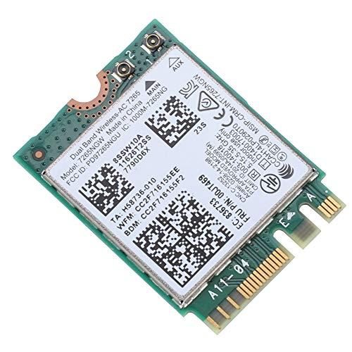 Pokerty Wireless-Netzwerkkarte, Wireless-Netzwerkkarte für Thinkpad Intel 7265AC Dualband 867M Bluetooth 4.0 NGFF-Schnittstelle -