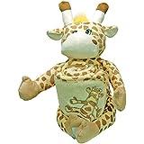 [PERSONNALISABLE] Doudou + Cape de bain bébé Girafe personnalisée au prénom du bébé - [BRODERIE OFFERTE] dans toutes les langues