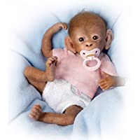 The Ashton - Drake Galleries Coco' - Poseable Lifelike Baby Monkey Doll by Linda Murray - Handcrafted from RealTouch Vinyl