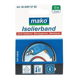 mako Isolierband; ca. 15 mm x 10 m; Farbe weiß