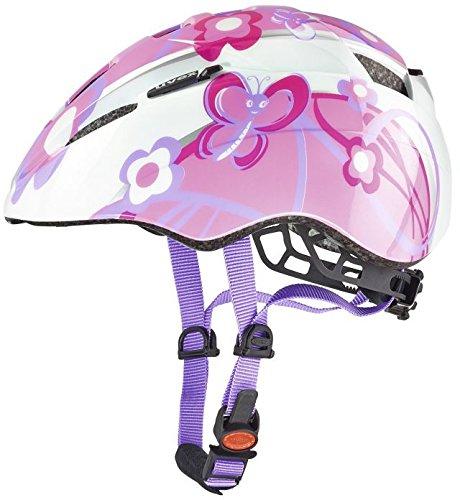 Uvex, Casco da ciclismo Bambina, motivo: Farfalle