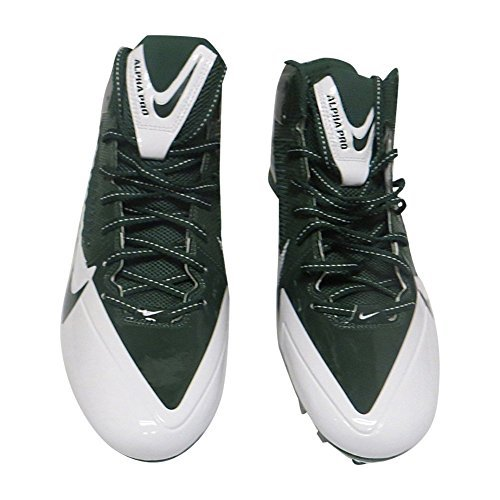 Nike Mens Alpha Pro TD Football Cleats (15 M US, Hunter Green/White)