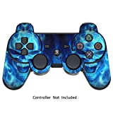 PlayStation 3 PS3 Controller Sticker - Aufkleber Schutzfolie Skin für Sony Playstation DualShock 3 Wireless Controller Blue Daemon