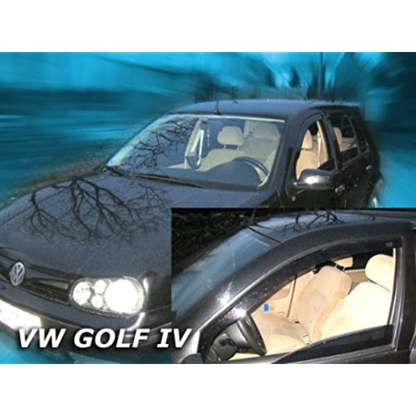 Heko Z902019 Windabweiser Regenabweiser Für Golf 4 97 04 Hatchback Variant 5türer Für Vorne Und Hinten Auto