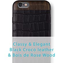 "iATO - Carcasa para iPhone, Black Croco & Bois de Rose - iPhone 6/6S PLUS [5.5""] CHECK YOUR SIZE!!!, iPhone 6 / 6S PLUS"