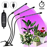 Lampada per Piante, SOLMORE LED Grow Light 27W 54 LEDs Triplo...