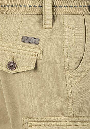 SOLID Valongo Herren Cargo-Shorts kurze Hose mit Taschen und Gürtel aus 100% Baumwolle Dune (5409)