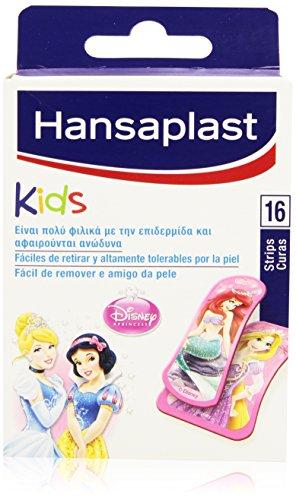 Hansaplast Kids Pflaster mit Disney Prinzessinnen Motiv, leicht zu entfernen und extrem hautverträglich, 16 Stück