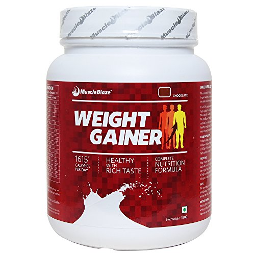 MuscleBlaze Weight Gainer, Chocolate, 1 kg / 2.2 lb