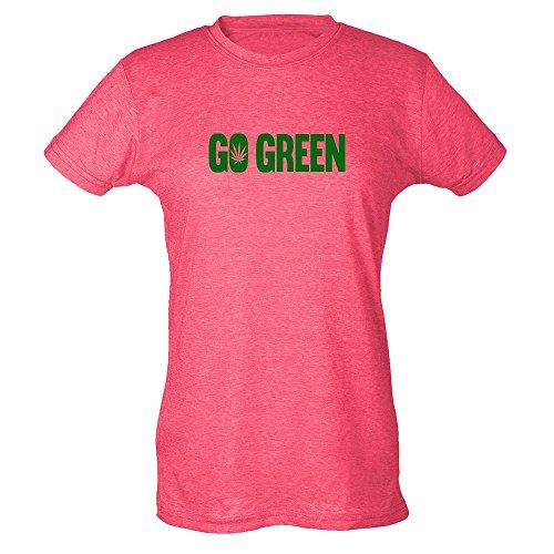 Pop Threads Herren T-Shirt Gr. XX-Large, Heather Fuchsia