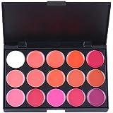 Paleta de herramientas Molie 15 colores de maquillaje brillo de labios del lápiz labial Colorete Corrector