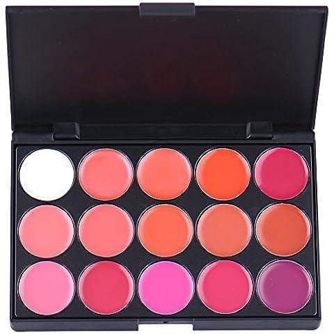 15colori trucco Long Lasting Rossetto Lip Gloss tavolozza Tool Set