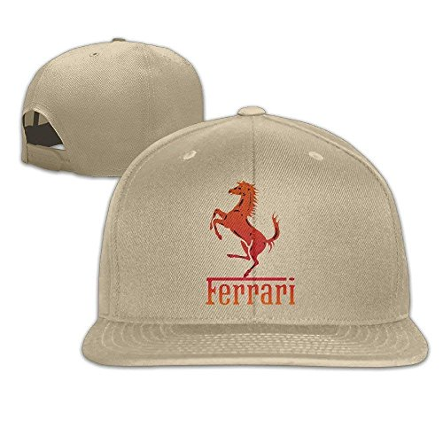 Ferrari Team Unisex Mode Cool Einstellbare Hysteresenhut Baseballmütze One Size Natural