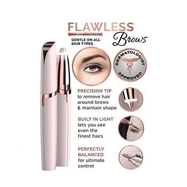 Eyebrow Trimmers Women Painless Electric Eyebrows Facial Hair Remover Shaver Epilators