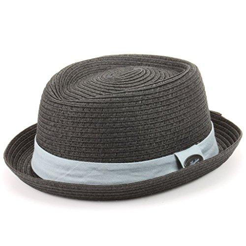 60a8ad3054e Hawkins Straw Paper Pork Pie Hat - Dark Grey (59cm)