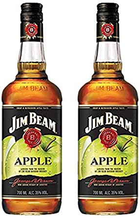 jim beam apfel lik r bourbon whiskey 2 x 0 7 l bier wein spirituosen. Black Bedroom Furniture Sets. Home Design Ideas