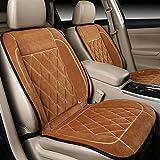 CAR Universal 12V beheizter Autositzheizung Beheizter Kissenwärmer High / Low / Temp Switch , brown