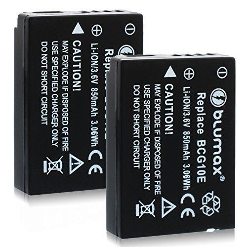 Blumax 2X DMW-BCG10/DMW-BCG10E Akku Kompatibel mit Diversen Panasonic Kameramodellen 850mAh 3,6V 3,06WhMehr Leistung als Original Akku