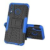 Für Asus ZenFone 5/5Z (ZE620KL) Hülle, Colorful Rugged Armor Defender Ständer Handyhülle Schutzhülle TPU Case für Asus ZenFone 5/5Z (ZE620KL),Blau