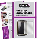 dipos I 2X Schutzfolie klar passend für RugGear RG910 Folie Bildschirmschutzfolie